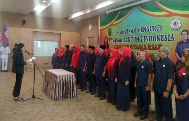 Pengurus Yayasan Jantung Indonesia Cabang Riau Resmi Dilantik