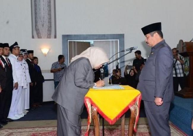 Bupati Bengkalis Lantik 8 Pejabat PTP dan 70 Pejabat Administrator