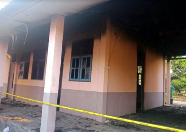 Pasca Kebakaran, Aktifitas Belajar Mengajar di SMPN 1 Kuala Kampar Berjalan Normal