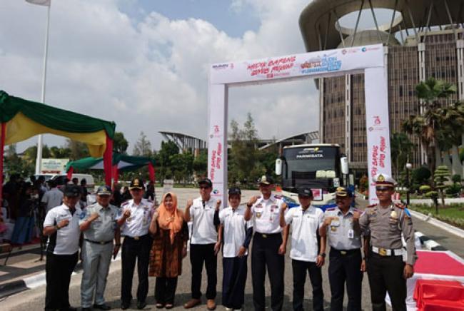 Kadishub Riau Lepas Keberangkatan Peserta Mudik Gratis Bareng Pelindo I
