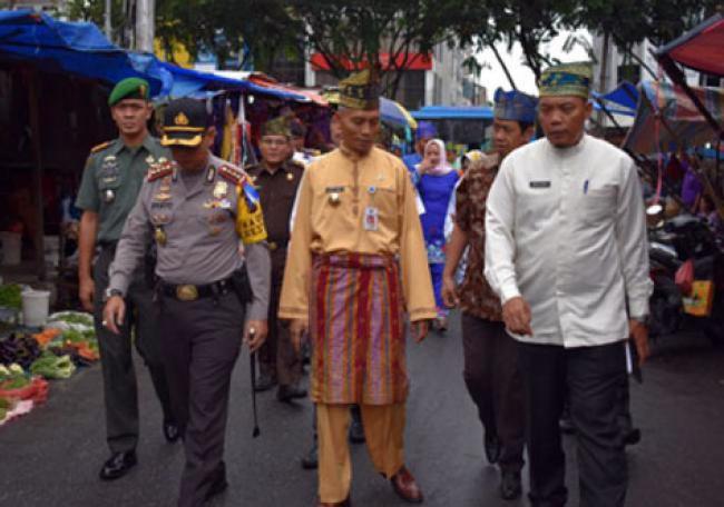 Kapolresta bersama Plt Walikota Pekanbaru Pantau Pos Pam Ops Ketupat Muara Takus 2018