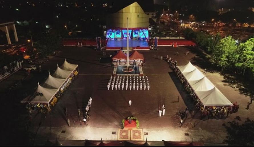 Bupati Amril Kukuhkan 75 Anggota Paskibra Bengkalis