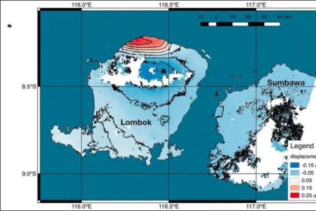 Permukaan Pulau Lombok Naik 25 Cm Pasca-Gempa Dahsyat 7 SR