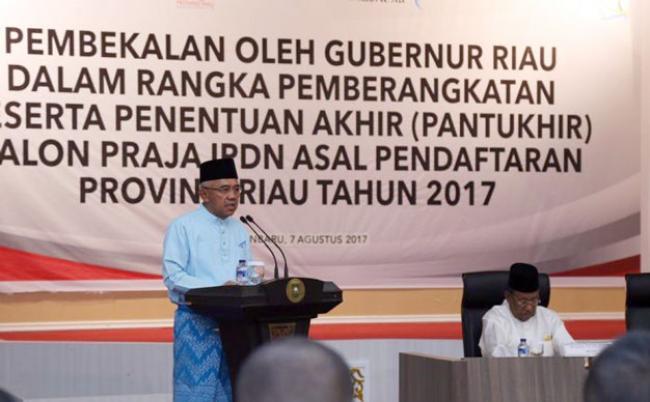 Gubri Berikan Pembekalan Bagi Peserta Pantukhir Calon Praja IPDN Asal Riau