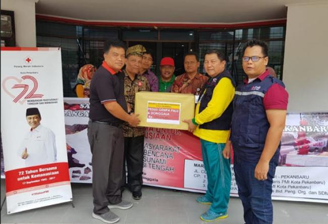 Disdik Pekanbaru Salurkan  Rp 290.675.000  Untuk Korban Gempa dan Tsunami  Selawesi Tengah