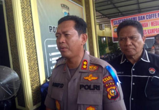 Reskrim Polres Kampar Proses Tiga Kepala Desa Terkait Dana Desa