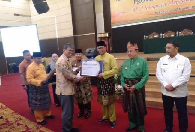 Hadiri Rakor Pengawasan Daerah 2019, Bupati Suyatno Terima Penghargaan Kapabilitas APIP Level 3