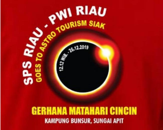 Saksikan Gerhana Matahari Cincin, PWI Riau Goes To Astro Tourism GMC ke Siak