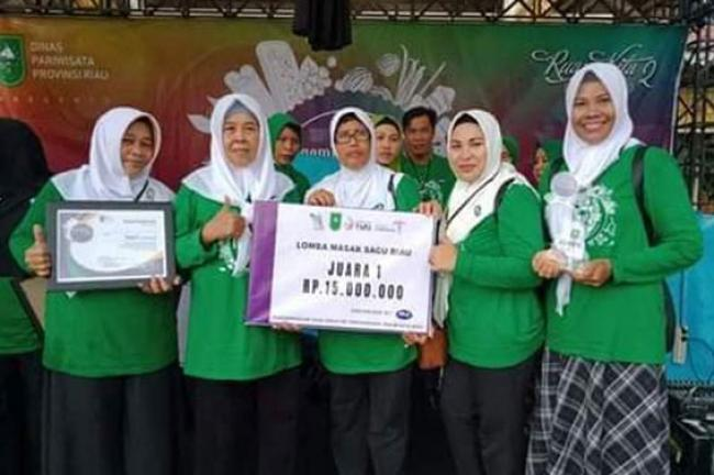 DPC PPJI Kabupaten Bengkalis Juara I Lomba Masak Sagu di Festival Ruang Kita II