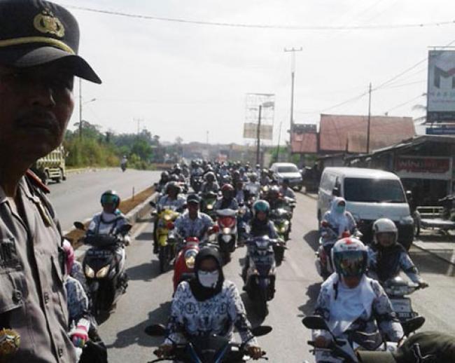Ribuan Guru Kuansing Mulai Bergerak, Tuntut Dana Sertifkasi
