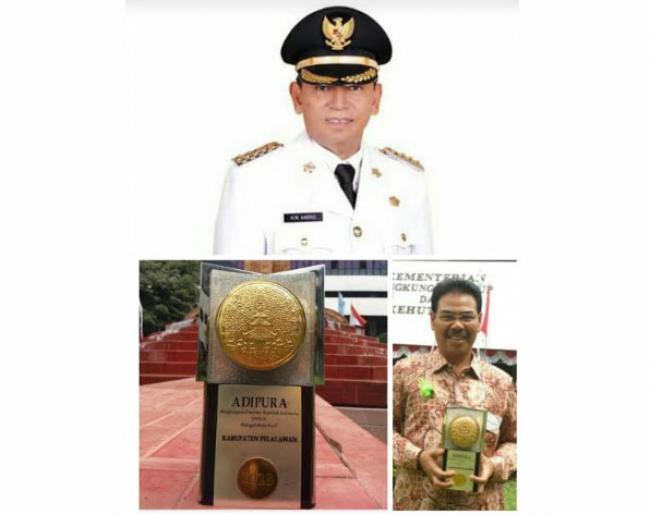 Kota Pangkalan Kerinci Terima Piala Adipura Dari Wapres Jusuf Kalla
