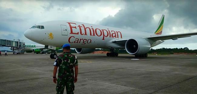 TNI AU Daratkan Paksa Pesawat B 777 Asing