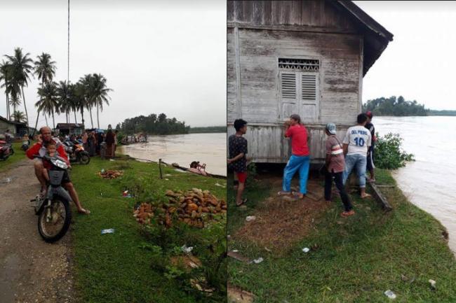 Selalu Disambangi Banjir, Abrasi Desa Domo Ancam Pemukiman Warga