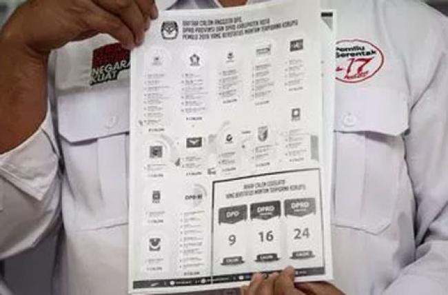 KPU Umumkan Caleg Eks Koruptor, Ini Daftarnya