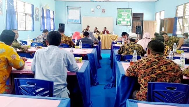 MKKS SMP Se Tapung Raya Laksanakan Rapat Kerja Awal Tahun 2021 di SMPN 4 Tapung Hulu