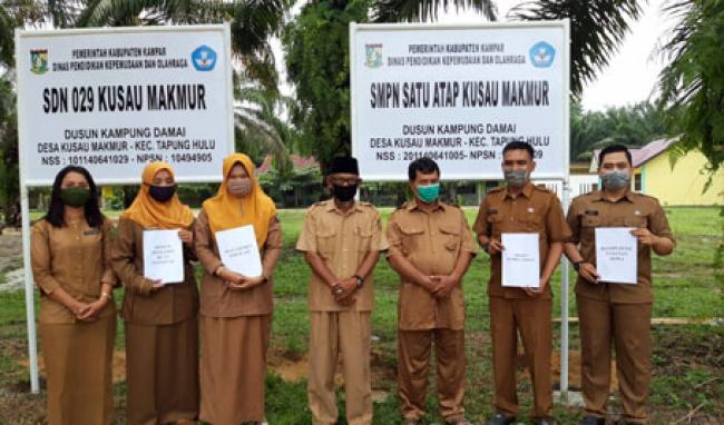 SMPN dan SDN 029 Satu Atap Kusau Makmur Tapung Hulu Butuh Rehab