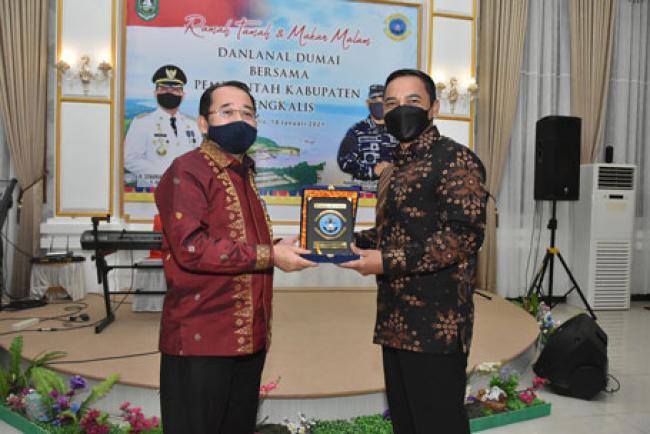 Pererat Silaturahmi, Danlanal Dumai Kunker ke Pemkab Bengkalis