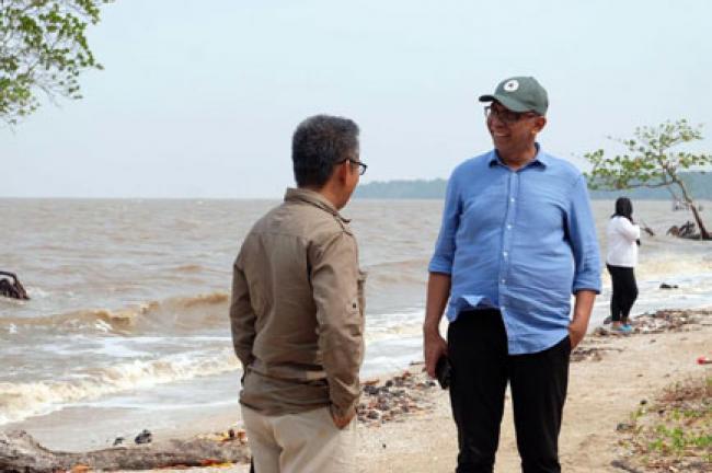 Pjs Bupati Inhil Kunjungi Kawasan Ekowisata Pantai Solop
