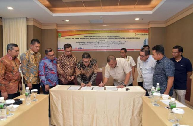 Pemkab Inhu Percayakan Transaksi Non Tunai Kepada Bank Riau Kepri