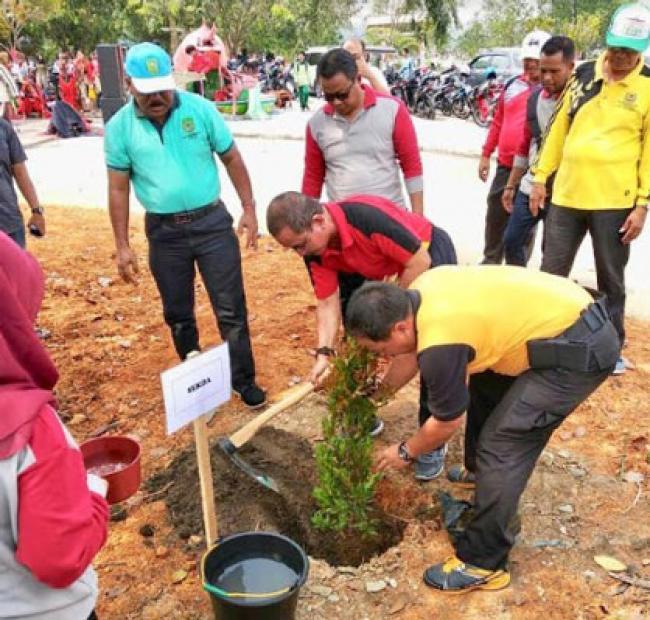 Pemkab dan Forkompinda Rohil Laksanakan HPSN Objek Wisata Batu Enam