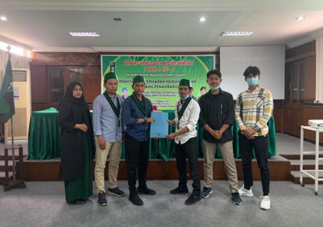 HMI FH Unilak Sukses Taja RAK Perdana, Muhammad Taufik Ketua Terpilih