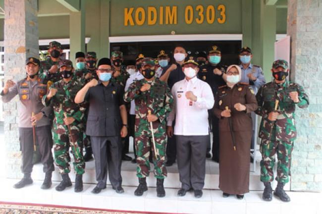 Pangdam I/BB Didampingi Danrem Kunjungi Kodim Bengkalis Dan Silaturahmi Dengan Pemkab Bengkalis