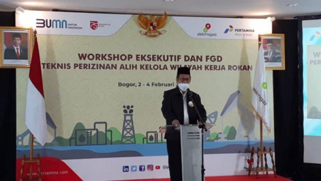 Plh Sekdaprov Riau Hadiri Workshop Eksekutif dan FGD Teknis Perizinan Alih Kelola Wilayah Kerja Rokan