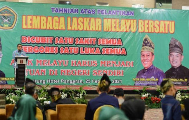 Wagubri Hadiri Pelantikan Pengurus DPP Lembaga Laskar Melayu Bersatu