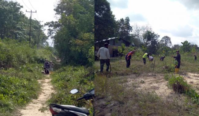 Percepat Pembangunan Infrastruktur, Masyarakat Industri Tenayan Laksanakan Goro di Jalan Tenayan Ujung