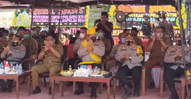 Resmikan Polsubsektor Pekaitan, Wakapolda Riau: Beri Masyarakat Rasa Aman dan Layanan Prima