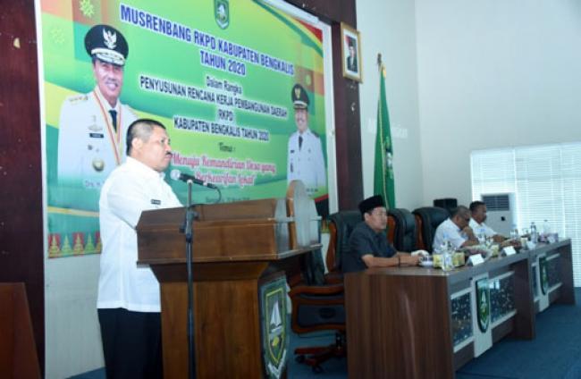 Bupati Amril Buka Musrenbang RKPD Kabupaten Bengkalis Tahun 2020