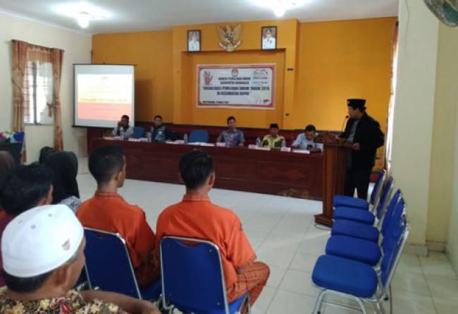 Tingkatkan Partisipasi Pemilih, KPU Bengkalis Gelar Sosialisasi di Rupat