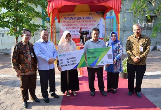 Bank Riau Kepri Wujudkan Program GN Lingkaran BPJS Ketenagakerjaan di Kepulauan Meranti