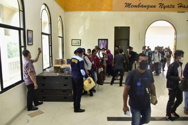 Pulang dari Malaysia, 115 Warga Bengkalis Dikarantina