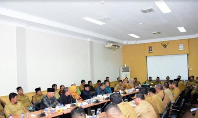 Komisi I DPRD Kabupaten Bengkalis Lakukan Hearing Dengan Dinas PMD