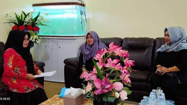Bicarakan Program 2020, Muslimawati Catur Terima Pengurus KPPI Kampar