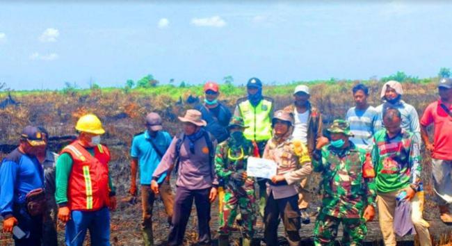 TNI POLRI Bersama Satgas Satria Krisna Temukan Titik Api