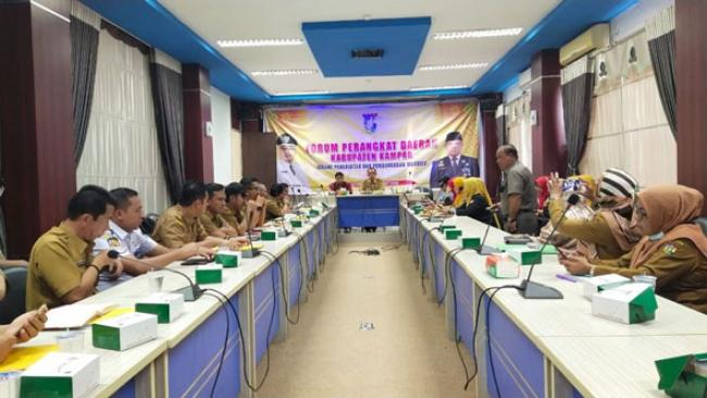 Bappeda Kampar Gelar Forum Perangkat Daerah RKPD Tahun 2021
