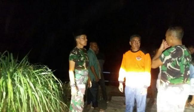 TNI Bersama Masyarakat Belum Temukan Korban Tenggelam Di Sungai Rokan Ujungbatu