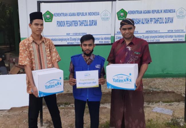 Bantuan Rumah Yatim untuk Ponpes Tahfizul Quran