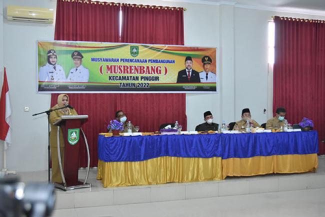 Musrenbang Pinggir, Kasmarni Minta Perangkat Daerah Sinergikan Usulan Hingga Desa