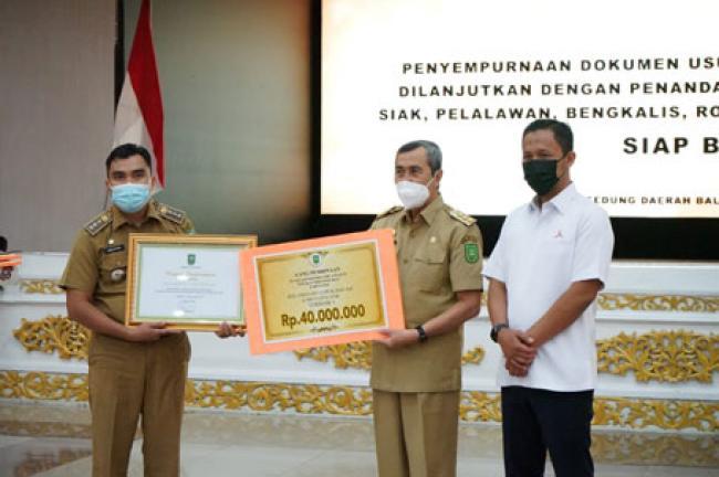 Kecamatan Lubuk Dalam Ditetapkan Sebagai Kecamatan Terbaik Tahun 2020 Se Riau