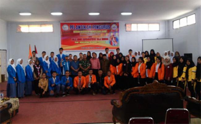 Danramil 09/Lgm Sampaikan Materi Bela Negara Di Kampus AKNP Pangkalan Kerinci