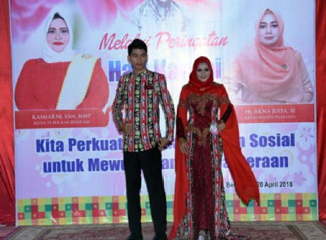 DWP Bengkalis Kembali Sabet Juara Satu Lomba Desain Batik Peringatan Hari Kartini 2018