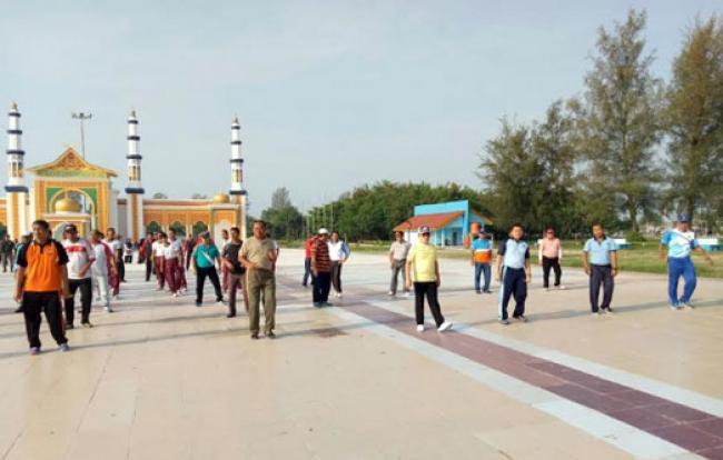 Sinergitas TNI, Polri & Pemko Kota Dumai Gelar Senam Bersama