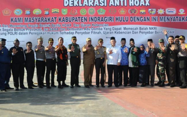 Danrem 031/Wira Bima Pimpin Deklarasi Anti Hoax di Inhu