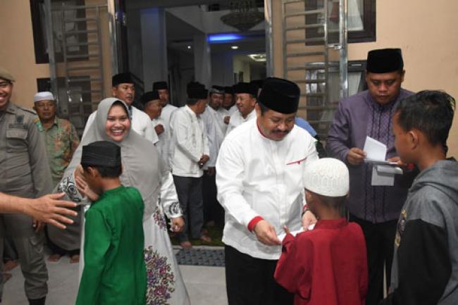 Sambut Ramadhan, Bupati Amril Gelar Syukuran dan Santuni Anak Yatim