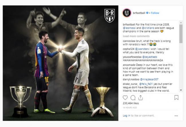 Pertama Sejak 2009, Messi dan Ronaldo Juara Liga Bersamaan