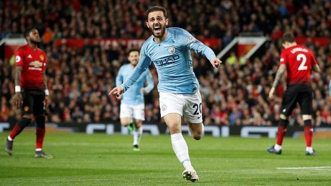 Hasil Liga Inggris: Tekuk MU 2-0, Man City Tak Terbendung