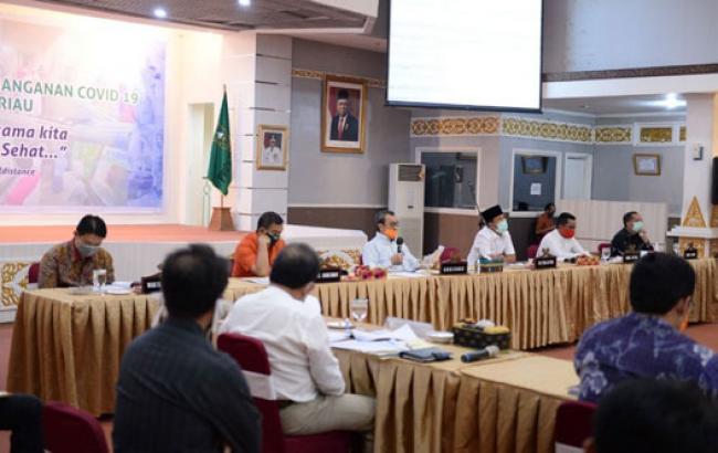 Gubri Gelar Rapat Pergeseran Anggaran Tahun 2020 Dengan Pimpinan DPRD Riau